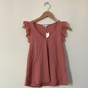 Anthropologie pink blouse